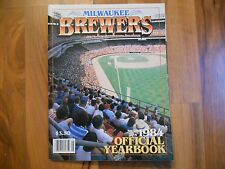 Old Vintage 1984 Milwaukee Brewers MLB Baseball Official Yearbook Magazine Sport