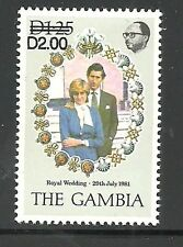 Album Treasures Gambia  Scott # 497C  2d on 1.25d  Royal Wedding  Mint NH