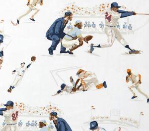 Pottery Barn kids Vintage Print  Baseball Full/queen Flat Sheet  +2 Pillowcases