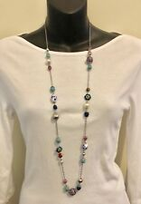 Brand New Long Beaded Necklace Interesting Patterns Length 96cm No Tags/Labels