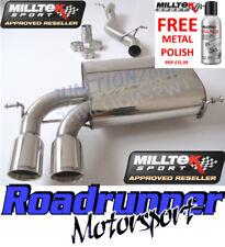 Milltek Audi S3 8P Quattro Exhaust System Cat Back Non-Resonate 3 Door SSXAU123