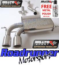 Milltek Audi S3 8P Quattro Exhaust System Cat Back Non-Resonate 3 Door SSXAU123