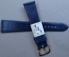 ZRC France Made Navy Blue Calfskin Calf 20mm Watch Band Gold Tone Buckle $11.95