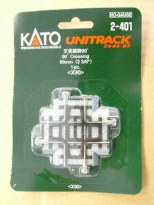 Kato HO-scale UniTrack 90-degree crossing 2-401 (1)