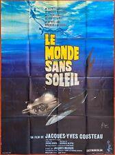 Affiche LE MONDE SANS SOLEIL Sous-Marin COUSTEAU Plongeur Plongée 120x160cm