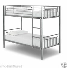 New!! Saffron Metal Bunk Bed With 2 Mattresses* FREE P&P