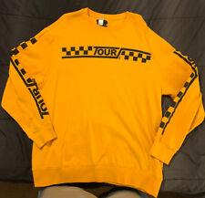Justin Bieber Tour 2017 Sweater Yellow Unisex Sweatshirt RARE XL
