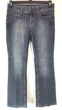 Mixit Womens Size 6 Petite Jeans Blue Wash Stretch Boot Cut Leg Zipper 5 Pockets