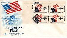 New listing Us Fdc #1153 Flag Plate Block, ArtCraft (6841)