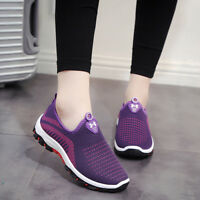 Women's Athletic Breathable Sneakers Flats Slip On Sports Casual Low Top Shoes