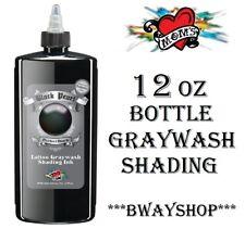 MOMS Black Pearl Tattoo Graywash Shading Ink Single Individual Bottle 12 oz Size