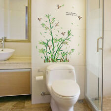 Bamboo Plant Pattern PVC Wall Art Decal Sticker Mural Living Room Home Decor