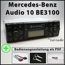 Original Mercedes Audio 10 BE3100 Kassettenradio Becker Radio A2108200986 Set