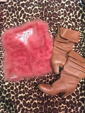 Peanut Brown Knee High Boots Size 11