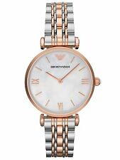 NEW EMPORIO ARMANI AR1683 LADIES TWO TONE GIANNI T-BAR WATCH