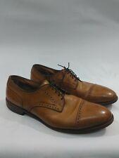 Allen Edmonds Sz 14 C Colton Oxford Shoes Cap Toe Medallion Brogue Leather Brown