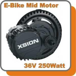 E-BIKE MID Mittelmotor Kit  36V 250W Antrieb Umbausatz Inside Controller
