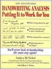 Handwriting Analysis Putting It to Work for You Book ***