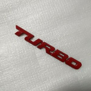 Turbo Universal Car Motorcycle Auto RED 3D Metal Emblem Badge Decal Sticker