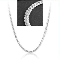 925 Sterling Silver Plated 5MM 20 Inch Jewelry Chain Link Necklace Pendant Gift