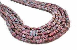 ON SALE Natural Ruby  Heishi Cut Square Shape Beads 5mm Gemstone Beads Strand 8 inch Long Wholesale Prices