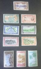 1949 Cook Islands KGVI Stamps of New Zealand set sg 150-159