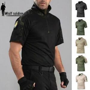 Hommes Tactical Combat T-Shirt Summer Work Military Army Outdoor  HOT ZBB