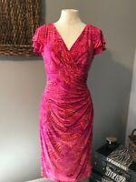 Ralph Lauren Pink Orange Short Sleeve Stretch Dress 10