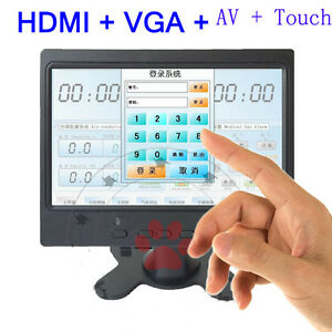 """7"""" inch TFT LCD HDMI AV VGA Monitor + touch screen 4-line resistive for POS PC"""