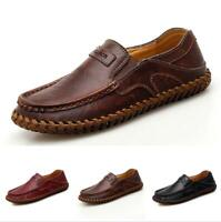 Retro Men's Driving Moccasin Shoes Pumps Loafers Breathable Slip on Flats Casual