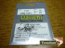 25 X Daiichi 1167 #16 Klinkhamer Hooks for Emergers & Dry Flies Fly Tying