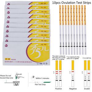 10Pcs Ovulation Test Strip Predictor Fertility Stick Automatically Recognizin*wf