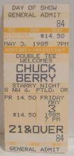 Chuck Berry - Vintage 1985 Unused Whole Concert Ticket