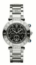 Versace Women's 68C99D009 S099 REVE CHRONO Black Dial Stainless Steel Date Watch
