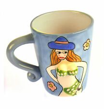 Beautiful Boobs Babe 3D Mug - Green Bikini & Blue Hat