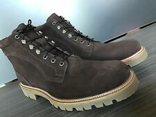 New BALLY SWISS MADE WELLYS SUEDE BROWN HIKING BOOTS size 12 $595