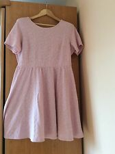 DOROTY PERKINS T46 -18 UK Robe Patineuse Rose Poudre