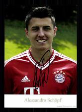 Alessandro Schöpf Autogrammkarte Bayern München II 2013-14 Original Signiert