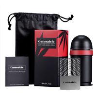 1 set Smell Proof Container With Herb Hemp Grinder Card Pocket Stash Vacuum Jar