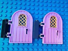Lego Friends Disney QTY2 PURPLE DOORS Black Hinges City Town Girls