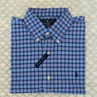 Ralph Lauren Polo Performance Slim Fit Long Sleeve Blue Red White Plaid M,L,XL