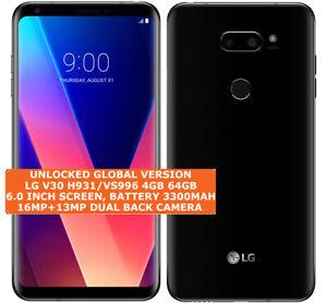 """LG V30 H931/VS996 4gb 64gb Octa-Core 16mp Fingerprint 6.0"""" Android Smartphone 4g"""