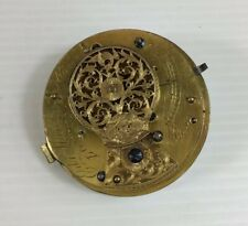 Antique Verge Edward Manley London Pocket Watch Movement Working 4.5cm Diameter