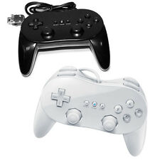 Pro Joystick Joypad White / Black Game Controller Remote Classic For Nintendo Wi