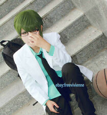 NEW Kuroko's Basketball Midorima Shintaro Short Olive Green Cosplay Party Wig