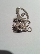 Lang Sterling Silver Pin Brooch Love Birds in a Birdcage