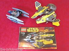 Set complet LEGO Star Wars 7256 - Jedi Starfighter et Vulture Droid + Minifig