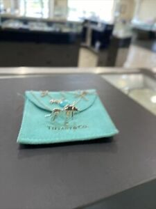 """Tiffany & Co Silver/18K Rose Gold Save the Wild Lion Charm Necklace 18"""""""
