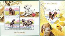 Dogs Pets Animals Fauna Madagascar MNH stamp set ODD SHAPE