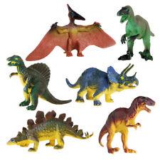 Realistic Dinosaur Toys Assorted Lot Pack of 6 Jurassic Dinosaur Figures PVC New